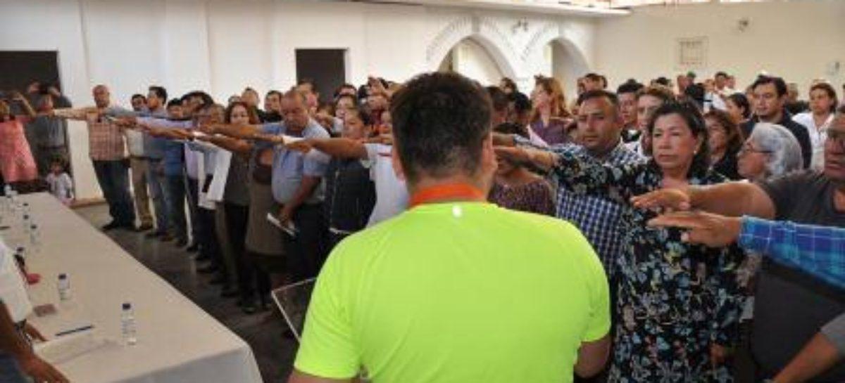 Rinden protesta 32 nuevos comités de colonias de Santa Lucía del Camino