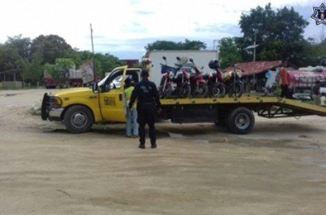 Accionan operativo conjunto en la Costa de Oaxaca para detectar vehículos irregulares