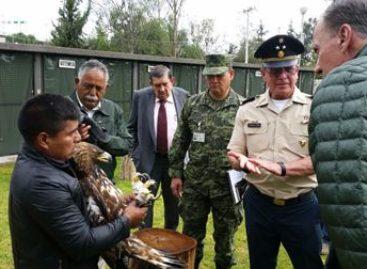 """Presenta construcción del """"Centro Nacional de Control y Protección del Águila Real"""" avance del 60%"""