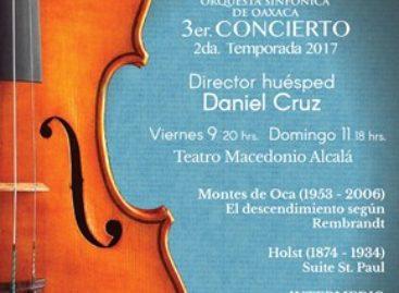 Invita SECULTA a conciertos de la Orquesta Sinfónica de Oaxaca