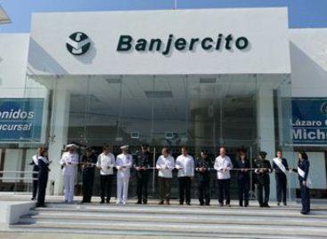 Inauguran sucursal de Banjercito en Lázaro Cárdenas, Michoacán