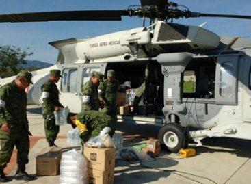 Mantiene SEDENA puente aéreo en el marco del Plan DN-III-E en Oaxaca
