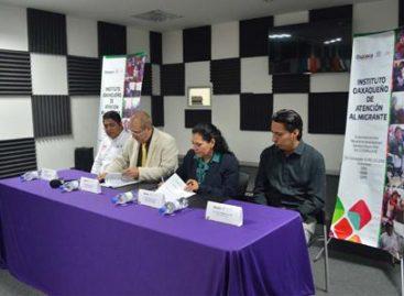En apoyo de población migrante, suscriben convenio IOAM y CORTV