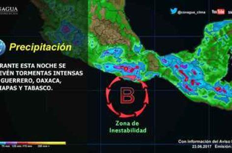Pronostican más lluvias en las próximas horas en Oaxaca