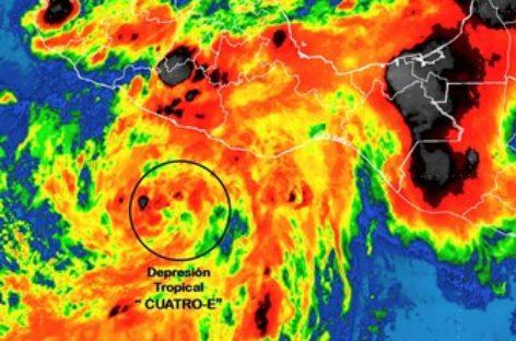 Se ha formado la Depresión Tropical Cuatro-E, al sur de Guerrero: SMN