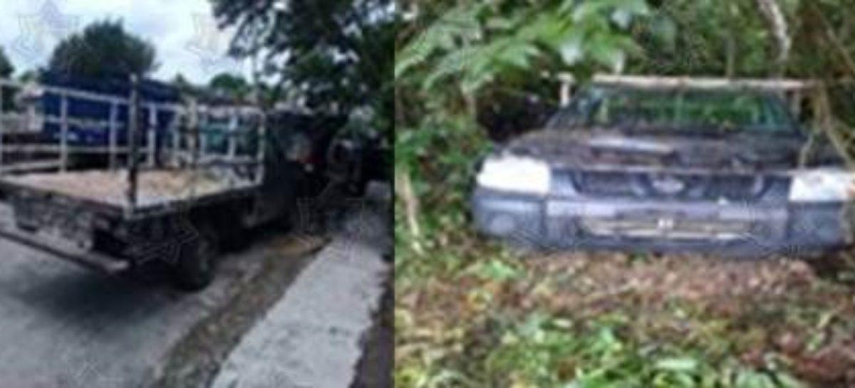 Recupera Policía Estatal dos vehículos con reporte de robo en Oaxaca