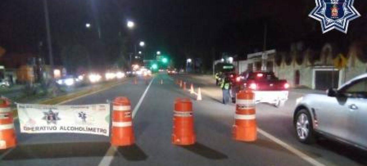 Arresta Policía Vial Estatal a 31 conductores durante Operativo Alcoholímetro