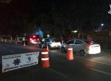 20 arrestados en Alcoholímetro aplicado en puntos estratégicos de Oaxaca de Juárez