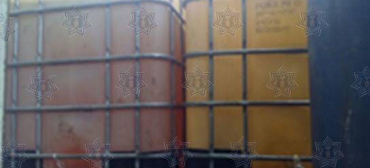 Aseguran más de seis mil litros de hidrocarburo en límites de Oaxaca y Veracruz