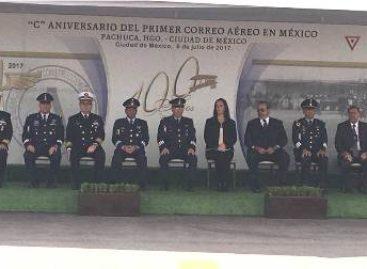 """Conmemoran """"Centenario del Primer Correo Aéreo en México"""" en el Campo Militar 1-A"""