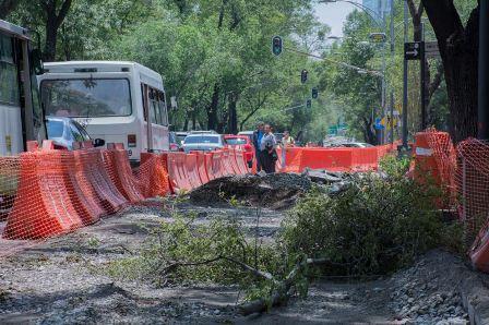 Por la construcción de la Línea 7 del Metrobús