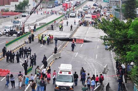 Zona del socavón en Morelos