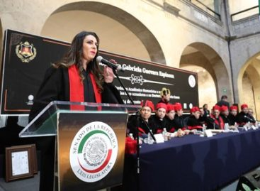 Recibe senadora Ana Gabriela Guevara Honoris Causa por su contribución deportiva y legislativa