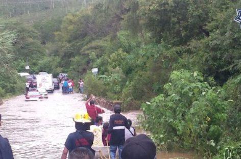 Mantiene Protección Civil alerta por aumento de nivel en ríos de Oaxaca