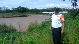 Autoridades realizan acciones de vigilancia en los márgenes de este río.