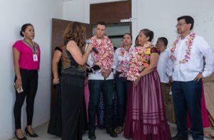 Recorrió las instalaciones del Centro de Justicia para la Mujer del Istmo de Tehuantepec.