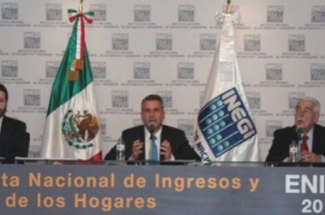 Por primera vez, incluye Encuesta Nacional de Ingreso y Gasto de los Hogares información relativa a estados