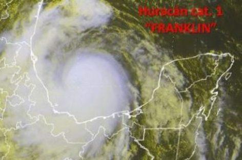 "Provocaría Huracán ""Franklin"" tormentas intensas en Oaxaca"