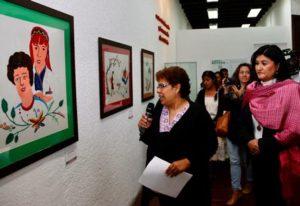 El conversatorio se complementó con la exposición conformada por 27 cuadros que expresan diferentes derechos.