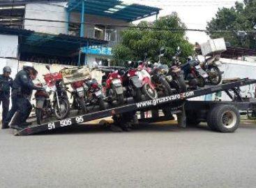 Aseguran 50 motocicletas por irregulares en la zona norte de la capital de Oaxaca