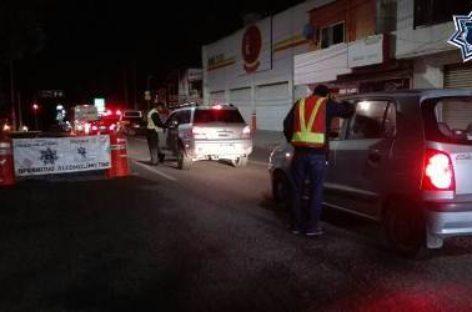 Arrestados 11 conductores durante Operativo Alcoholímetro en Oaxaca