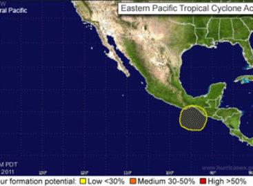 Se intensifica sistema de baja presión en el Golfo de Tehuantepec