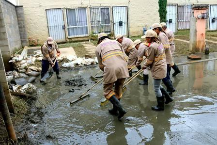 Familias afectadas por las lluvias
