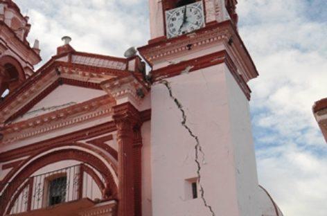 Inservible deja terremoto el templo parroquial de El Calvario En Huajuapan, Oaxaca