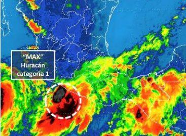 """En alerta Oaxaca por lluvias provocadas por el Huracán """"Max"""""""