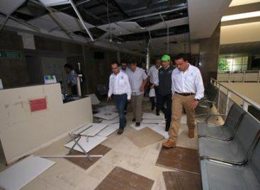 Evalúa director General daños causados por el sismo en clínicas del IMSS de Chiapas