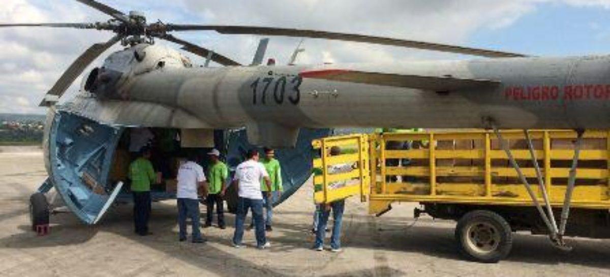 Instalan puente aéreo en apoyo a comunidades de la Sierra Sur de Oaxaca