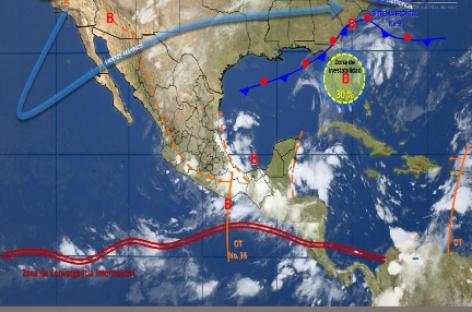 Favorece Onda Tropical número 36 potencial de lluvias con tormentas muy fuertes