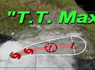 """Evoluciona Depresión Tropical a Tormenta Tropical """"Max"""", causará lluvias en Oaxaca"""