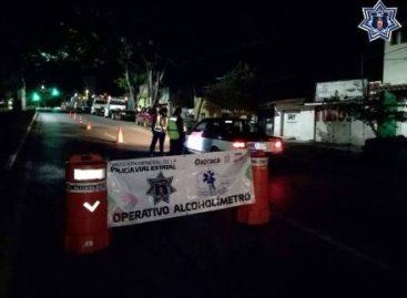 Arrestados nueve conductores en estado de ebriedad en Operativo Alcoholímetro