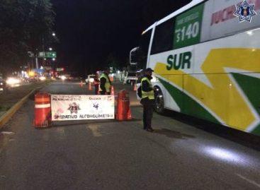 Arrestados 35 conductores en Alcoholímetro este fin de semana en Oaxaca y Tuxtepec