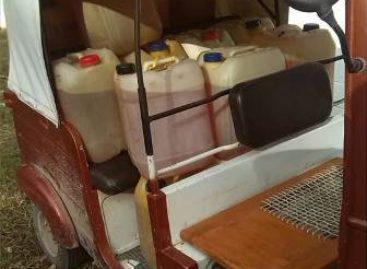 Detenidos en el Istmo cuando transportaban 20 bidones abastecidos con hidrocarburo