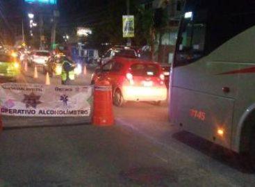Arrestados 16 conductores en Operativo Alcoholímetro en Oaxaca y Tuxtepec