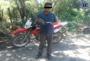 Juan GE, de 30 años de edad, llevaba 550 gramos de marihuana.