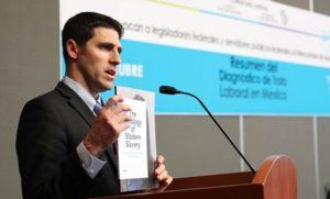 El Resumen del Diagnóstico de Trata Laboral en México, fue expuesto por su autor Emilio Maus, y por Brad Myles, CEO Polaris.