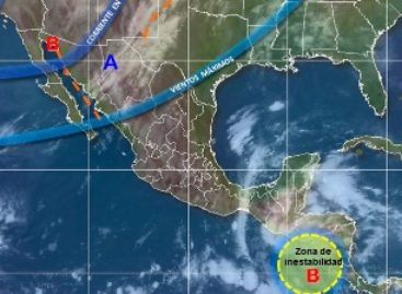 "Afectará efecto ""Norte"" a Oaxaca por el Frente Frío número 5"