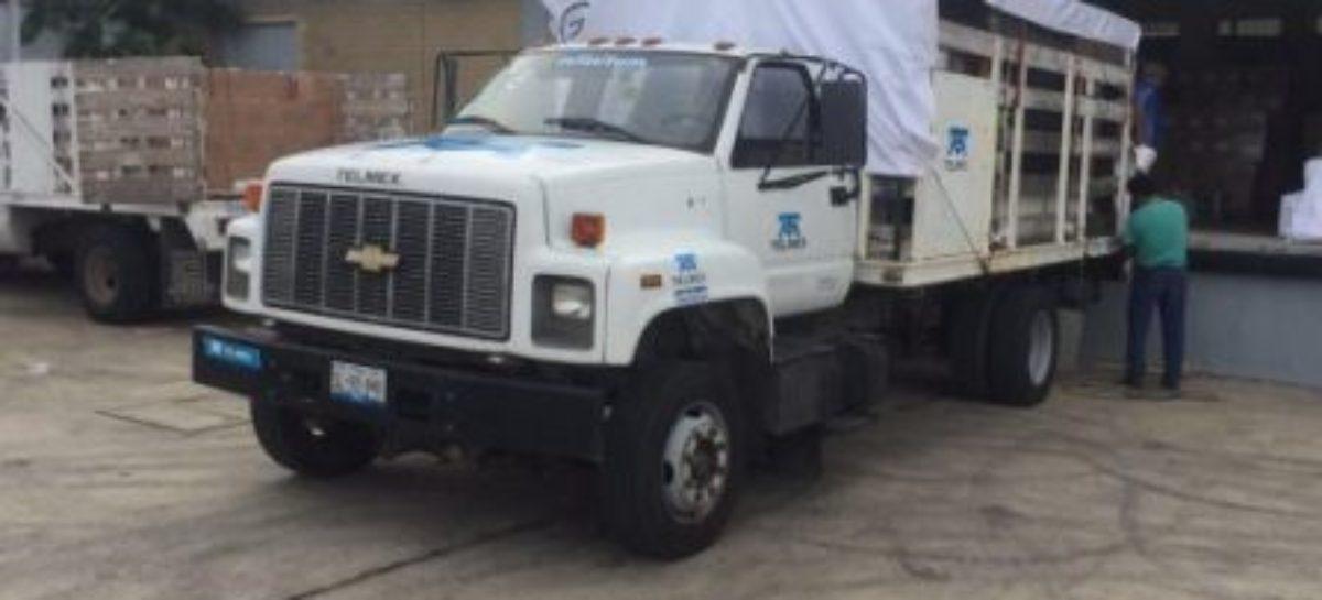 Entregan Fundación Carlos Slim, TELMEX y TELCEL 61 toneladas de ayuda humanitaria