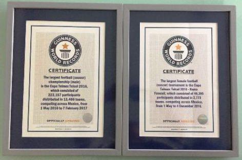 Obtiene Copa TELMEX TELCEL dos nuevos Récord Guinness