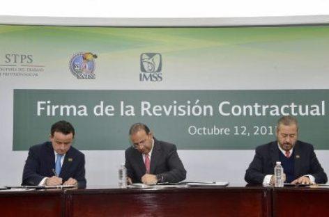 Concluyen IMSS y SNTSS revisión contractual 2017-2019; Incremento del 5.15 por ciento
