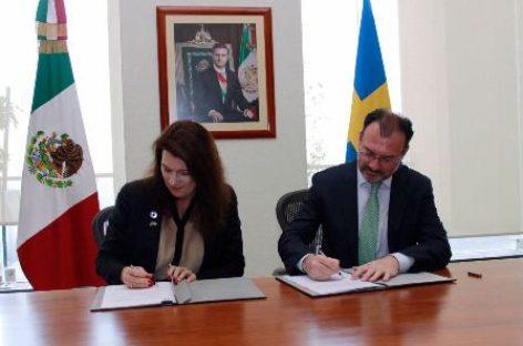 "Para fortalecer relación bilateral, suscriben ""Hoja de Ruta México-Suecia: 2017-2021"""