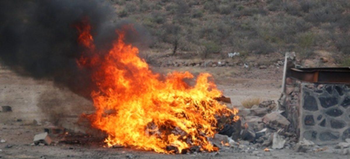 Destruye PGR-Oaxaca estupefacientes y objetos del delito
