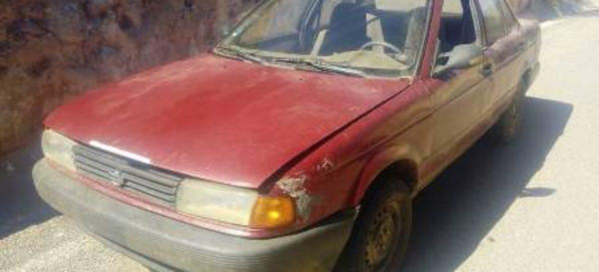 Recuperan vehículo con reporte de robo Santa Catarina Coatlán, Miahuatlán, Oaxaca