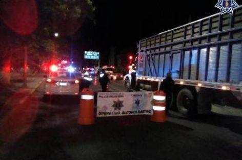 Aplica Policía Vial Estatal más de 40 pruebas en Alcoholímetro; 23 conductores arrestados