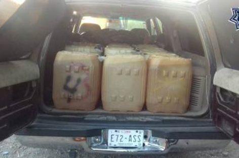 Reporta Policía Estatal aseguramiento de vehículos y combustible en el Papaloapan
