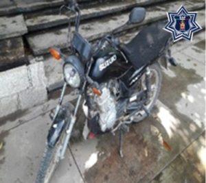 Motocicleta asegurada en Tuxtepec