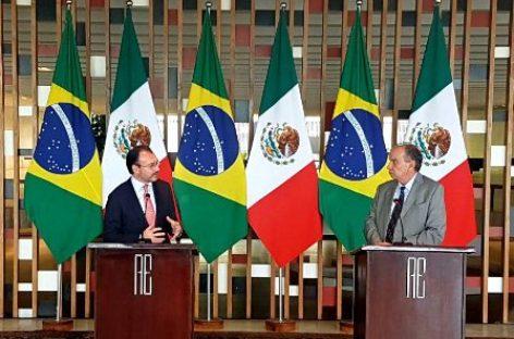 Buscan México y Brasil aumentar diálogo político e intercambio comercial